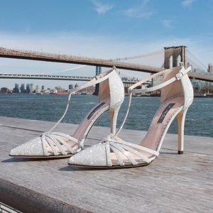 SJP Carrie T Strap Heels in Diamond size 37